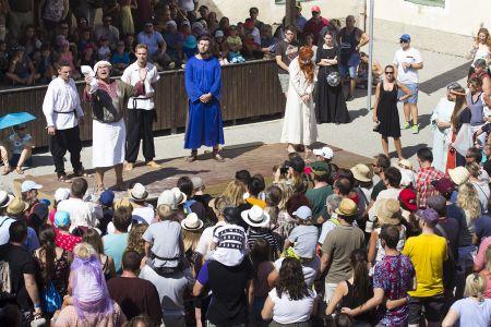 Hexenprozess beim Mittelalterfest Jedenspeigen 2019